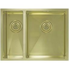 Мойка Seaman Eco Marino SME-575DL Light Gold (PVD) доп. чаша слева