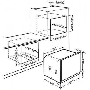 Smeg SF106 нержавеющая сталь/стекло Stopsol