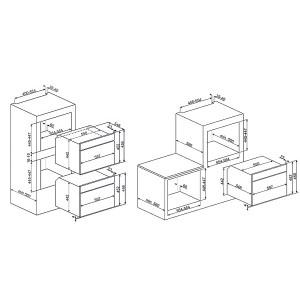 Smeg SF4800MA антрацит/позолота