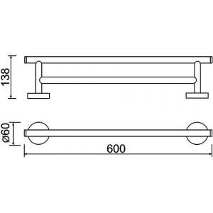 Полотенцедержатель Teka Fiesta 501-1011-00, 600 мм двойной