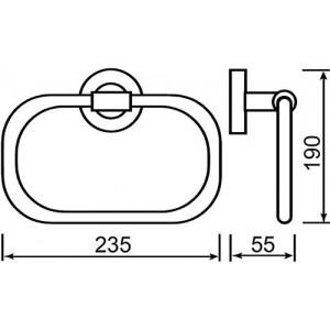 Полотенцедержатель Teka Fiesta 501-1012-00 кольцо