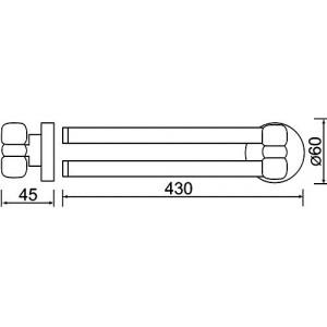 Полотенцедержатель Teka Fiesta 501-1013-00, двойной