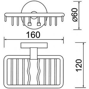 Мыльница Teka Fiesta 501-1020-00, металлическая