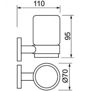 Стакан с держателем Teka Fiesta 501-1040-00, стекло