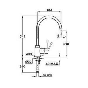 Смеситель Teka SP 995 55995021Q черный металлик, для мойки