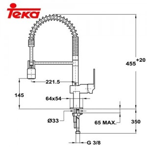 Смеситель Teka Cuadro 3893702 Pro