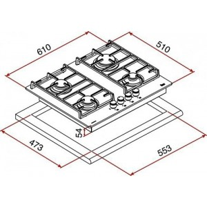 Варочная поверхность Teka CGW LUX 60 4G AI AL CI NAT
