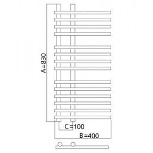 Полотенцесушитель электрический Terminus Астра 40*83 см