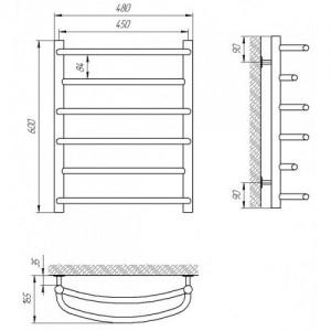 Полотенцесушитель электрический Terminus Евромикс 45*60 см