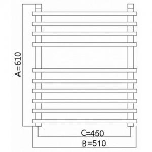Полотенцесушитель электрический Terminus Ватра 51*61 см
