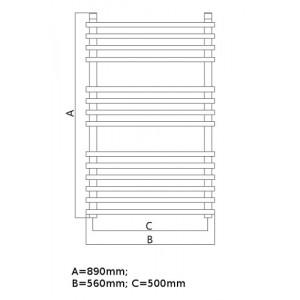 Полотенцесушитель электрический Terminus Ватра 56*89 см