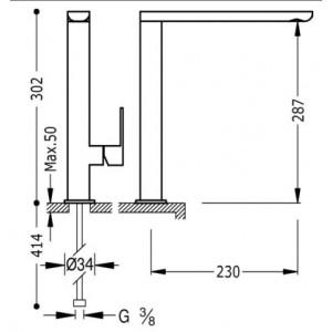 Смеситель Tres Loft 20044001BL для кухни