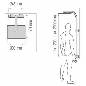 Душевая система Valentin Elle&Lui Touareg 2 хром