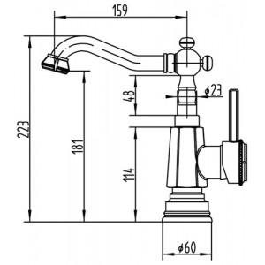 Смеситель Zorg A 308U-BR бронза для умывальника
