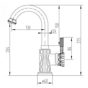 Смеситель Zorg A 110U-BR бронза для умывальника