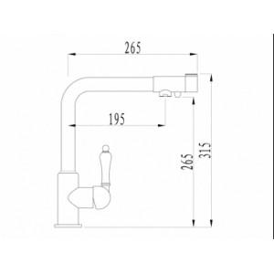 Смеситель Zorg ZR 320 YF-33