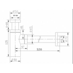 Сифон Zorg ZR-A1 хром