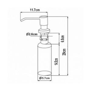 Zorg ZR-20 BLACK Дозатор жидкого мыла