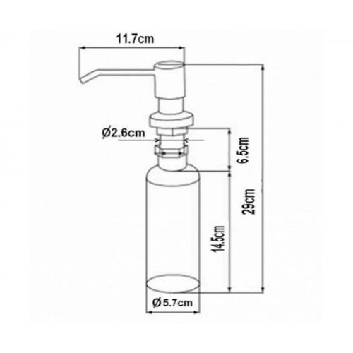 Zorg ZR-20 CR хром Дозатор жидкого мыла
