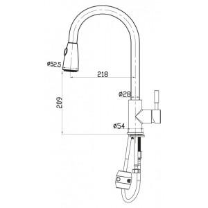 Смеситель BelBagno BB-LAM31-IN для кухни хром