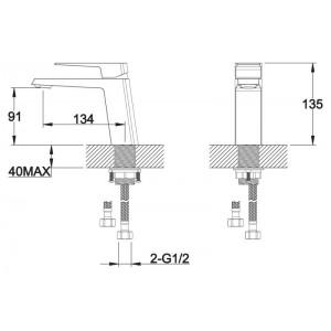 Смеситель BelBagno Arlie ARL-LVM-CRM для раковины хром
