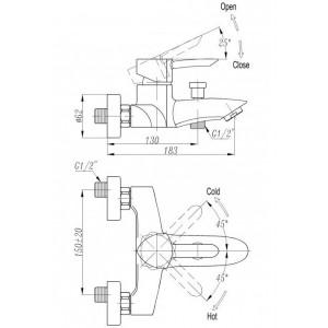 Смеситель BelBagno Arno ARN-VASM-CRM для ванны хром
