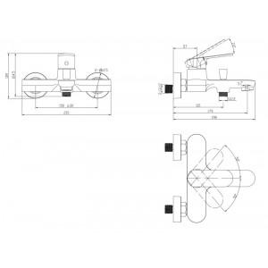 Смеситель BelBagno Ancora ANC-VASM-CRM для ванны хром