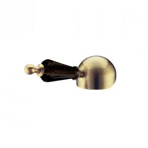 Смеситель для биде Boheme Medici Ripresa 306-BSW, бронза ручка черный Swarovski