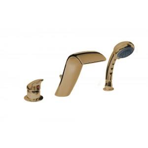 Смеситель для акриловой ванны Boheme Cobra 399, бронза