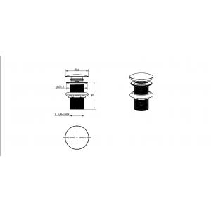Слив для раковины с переливом, автомат(клик-клак) Boheme Brilliante 612-2