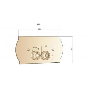 Кнопка для инсталляции Boheme Medici 651