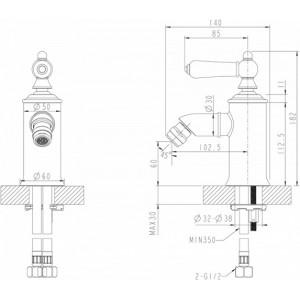 Bravat Art F375109C хром для биде