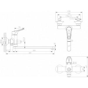 Bravat Drop-D F648162C-01A хром для ванны