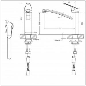 Bravat Common F7234129CP-RUS хром