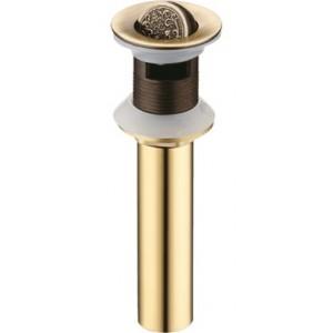 """Донный клапан """" Узоры"""" Bronze de Luxe 21979 бронза"""