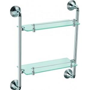 Fixsen FX-71622 Полка стеклянная 2-х этажная хром