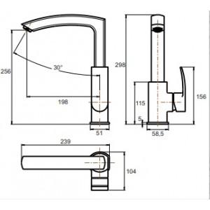 Смеситель Ganzer Severin GZ 02021 хром для кухни