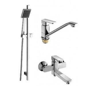 Душевой комплект Ganzer Stefan GZ 12037 хром для ванны