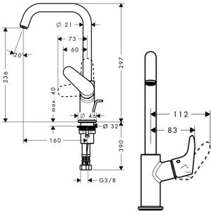 Смеситель Hansgrohe Focus HG-31609000 для раковины хром