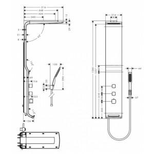 Душевая панель Hansgrohe Raindance HG-27008000 хром