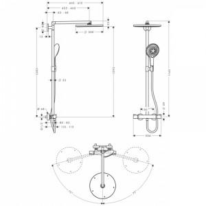 Душевая система Hansgrohe Raindance Select HG-27114000 хром