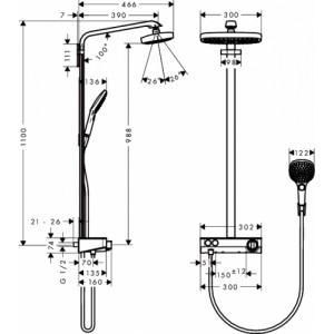 Душевая система Hansgrohe Raindance Select HG-27126000 хром