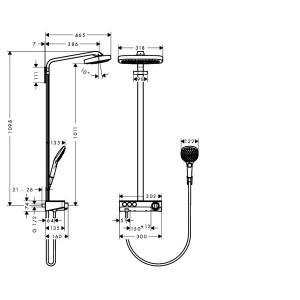 Душевая система Hansgrohe Raindance Select HG-27127400 хром