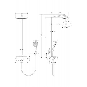 Душевая система Hansgrohe Raindance Select HG-27128000 хром