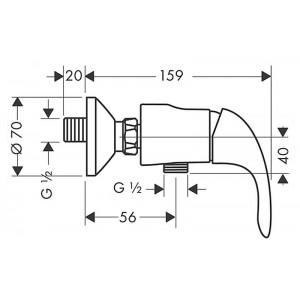 Смеситель Hansgrohe Focus E HG-31760000 для душа хром