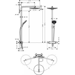 Душевая система Hansgrohe Raindance Select HG-27133000 хром