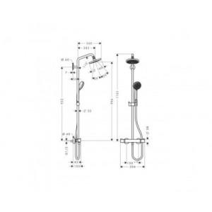 Душевая система Hansgrohe Croma HG-27135000 хром