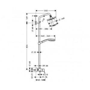 Душевая система Hansgrohe Croma HG-27154000 хром