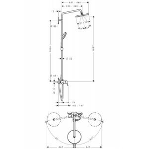 Душевая система Hansgrohe Croma HG-27222000 хром