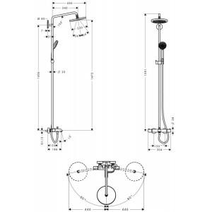 Душевая система Hansgrohe Croma HG-27223000 хром